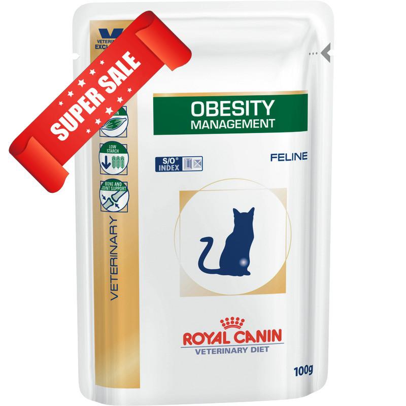 Лечебный влажный корм для котов Royal Canin Obesity Management Feline 100 г