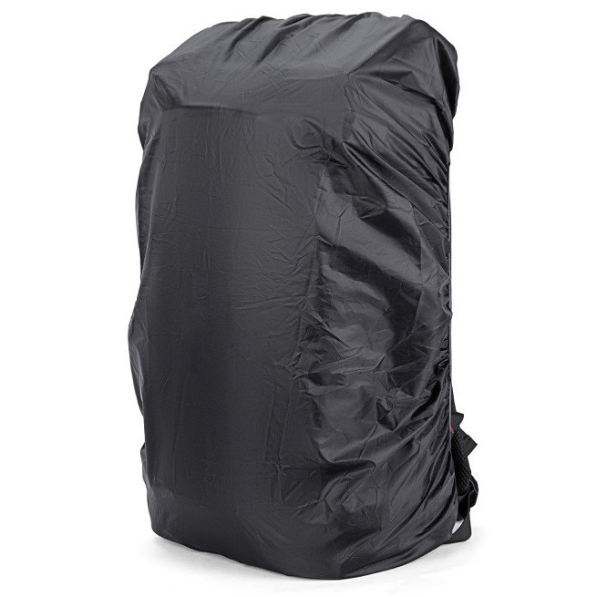 Двусторонний чехол от дождя и пыли Kaka Rain Cover, черный-серебристый, для рюкзаков 40-50л