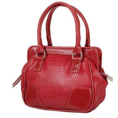 Женская сумка из качественного кожезаменителя  LASKARA (ЛАСКАРА) LK-10247-3D-red