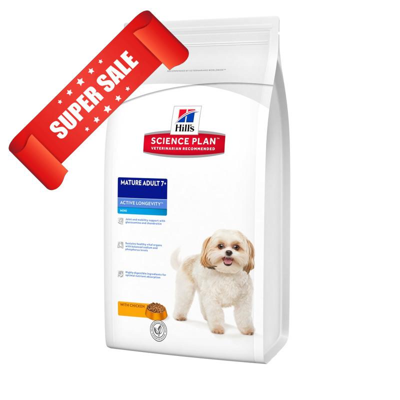 Сухой корм для собак Hill's Science Plan Canine Mature Adult 7+ Active Longevity Mini Chicken 7,5 кг