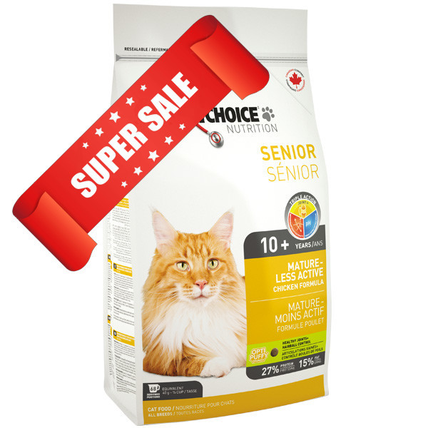 Сухой корм для котов 1st Choice Senior Mature Less Active 5,44 кг