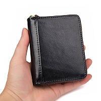 Кредитница  с RFID защитой для id паспорта и кредитных карт  кожа черная, фото 1