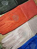 Детские замш перчатки на манжете подростковые (от 3-х до 15лет)стильные только оптом, фото 2