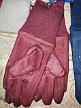 Детские замш перчатки на манжете подростковые (от 3-х до 15лет)стильные только оптом, фото 5