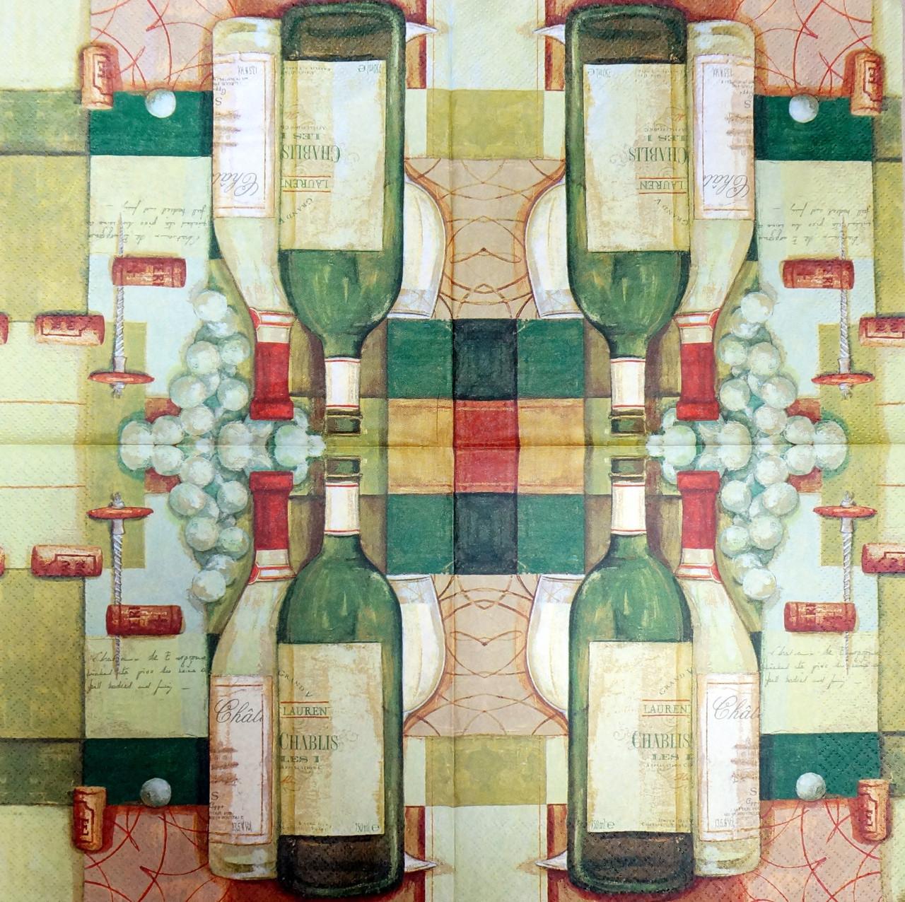 """Салфетка декупажная 33x33см 22 """"Вино"""" (товар при заказе от 200 грн) - магазин-студия Цацки в Чернигове"""