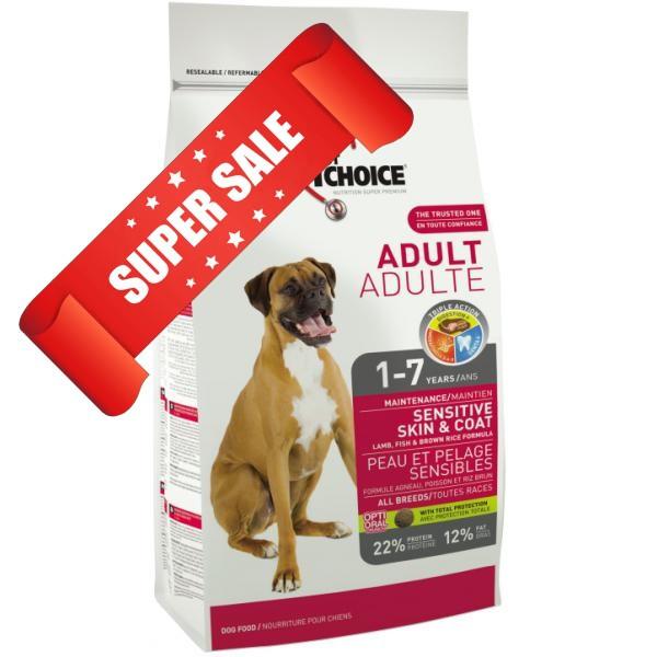 Сухой корм для собак 1st Choice Sensitive Skin & Coat Adult 7 кг