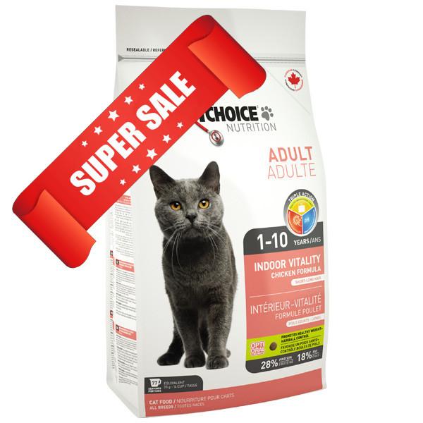 Сухой корм для котов 1st Choice Indoor Vitality Adult 5.44 кг
