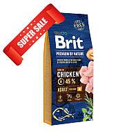 Сухой корм для собак Brit Premium Adult M Chicken 1 кг