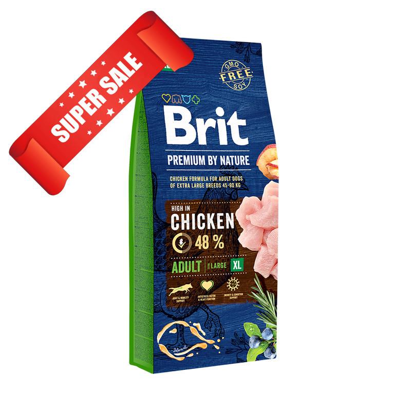 Сухой корм для собак Brit Premium Adult XL Chicken 3 кг