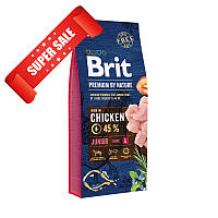 Сухой корм для собак Brit Premium Junior L Chicken 15 кг