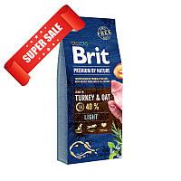 Сухой корм для собак Brit Premium Light Turkey & Oats 15 кг