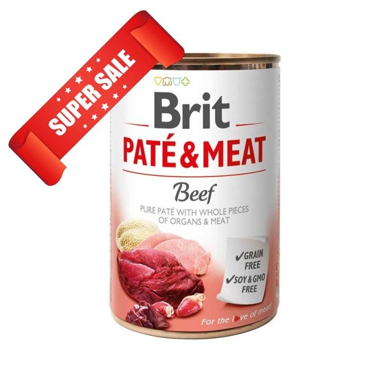 Влажный корм для собак Brit Pate & Meat Beef 400 г