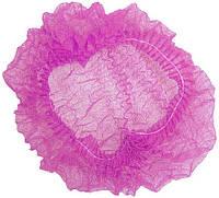 Шапочка одноразовая на двойной резинке розовая Polix PRO&MED