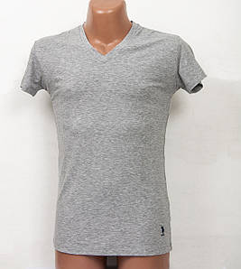 Домашняя одежда U.S. Polo Assn - Футболка мужская 80081 серая, М 1шт