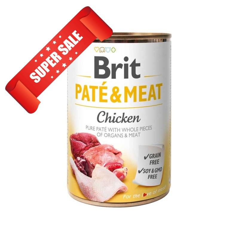 Влажный корм для собак Brit Pate & Meat Chicken 400 г