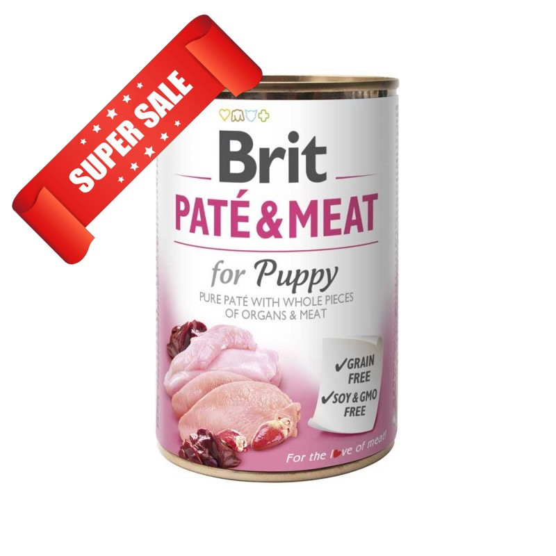 Влажный корм для собак Brit Pate & Meat Puppy Chicken 400 г