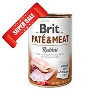 Влажный корм для собак Brit Pate & Meat Rabbit 400 г