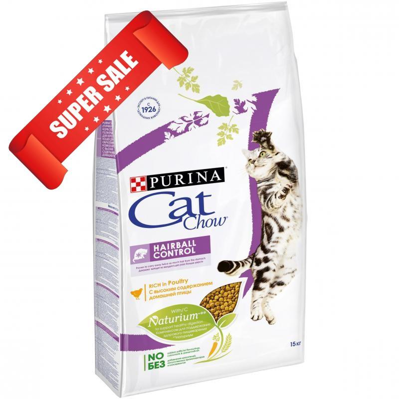 Сухой корм для котов Purina Cat Chow Hairball Control 1,5 кг