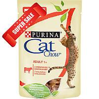 Влажный корм для котов Purina Cat Chow Adult 1+ с говядиной и баклажанами 85 г