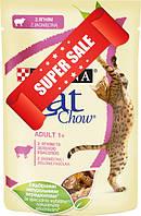 Влажный корм для котов Purina Cat Chow Adult 1+ с ягненком и зеленой фасолью 85 г