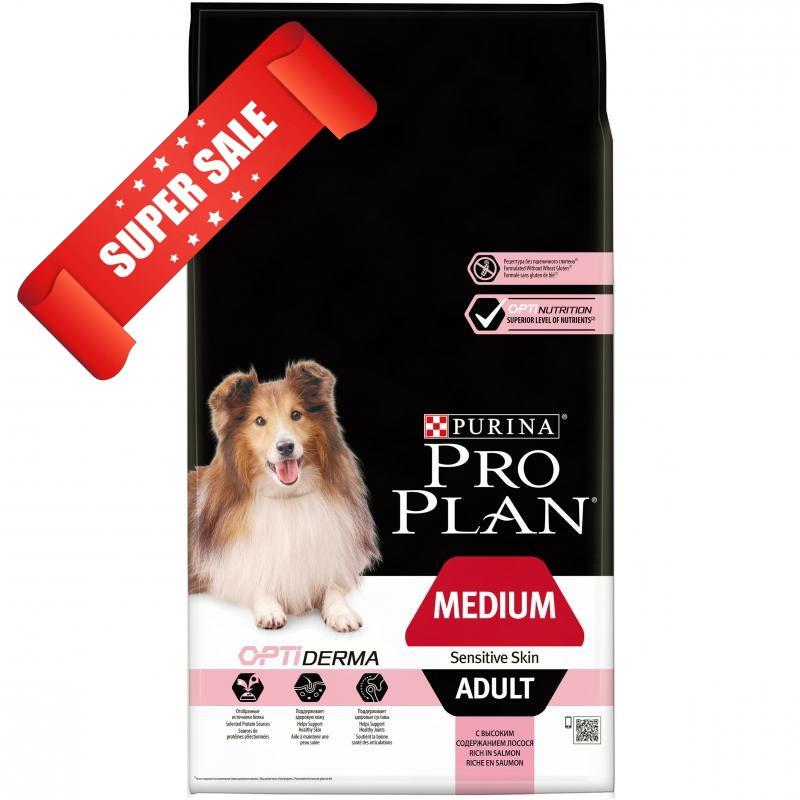 Сухой корм для собак Purina Pro Plan Medium Adult Sensitive Skin 14 кг
