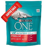 Сухой корм для котов Purina One Sterilcat Beef & Wheat 800 г