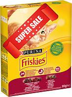Сухой корм для котов Purina Friskies с говядиной, курицей и овощами 300 г