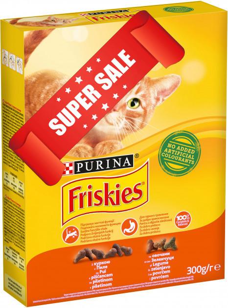 Сухой корм для котов Purina Friskies с курицей и овощами 10 кг