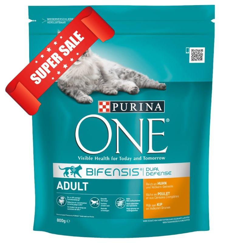 Сухой корм для котов Purina One Adult Chicken & Whole Grains 800 г