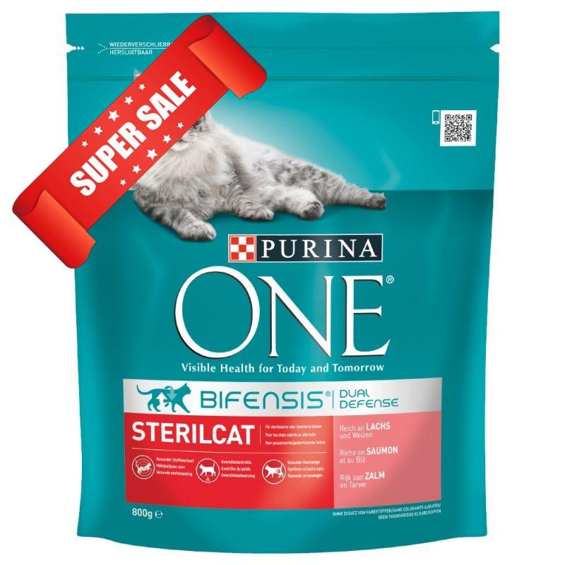 Сухой корм для котов Purina One Sterilcat Salmon & Wheat 200 г