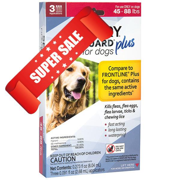 Капли от блох и клещей Senrty FiproGuard Plus для собак весом от 20 до 40 кг 2,68 мл