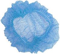 Шапочка одноразовая на двойной резинке голубая