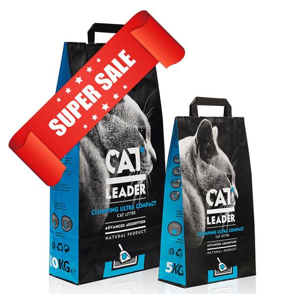 Ультра-комкующийся наполнитель для кошачьего туалета Cat Leader Clumping Ultra Compact 2 кг