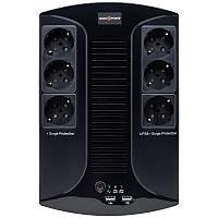 ИБП LogicPower 650VA-6PS, Lin.int., AVR, 6 x евро, пластик