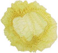 Шапочка одноразовая на одной резинке желтая