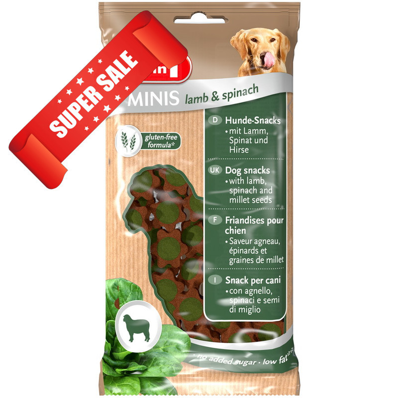 Лакомство для собак 8in1 Minis Lamb & Spinach 100 г