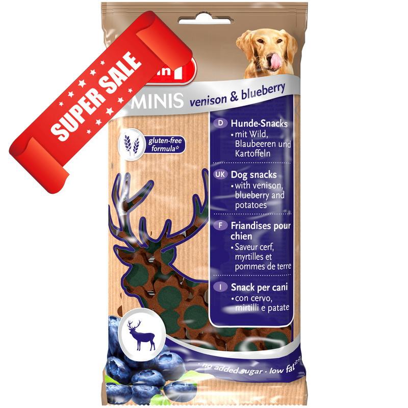 Лакомство для собак 8in1 Minis Venison & Blueberry 100 г