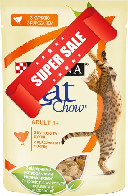 Влажный корм для котов Purina Cat Chow Adult 1+ с курицей и кабачками 85 г