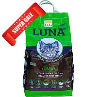 Бентонитовый (глиняный) наполнитель для кошачьего туалета Luna Small 5 кг