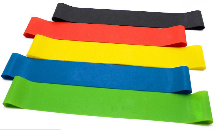 Набор лент-эспандеров для фитнеса 25 см 5 шт Разноцветный (010177799)