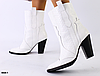 Ботинки казаки белый питон из натуральной кожи
