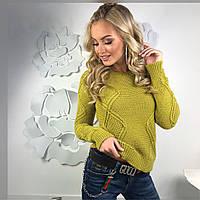 Красивый женский свитер из шерсти с акрилом