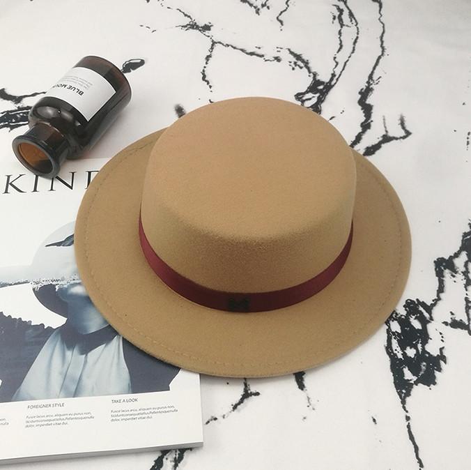 Шляпа женская фетровая канотье в стиле Maison Michel бежевая