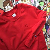 Champion - хайповый красный свитшот (Вышивка)(Реплика А++) Бирка топ