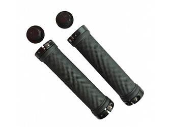Ручки вело керма LTX SR-70 гріпси чорного кольору / гумові з замками