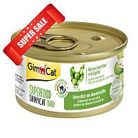 Влажный корм для котов GimCat Superfood ShinyCat Duo с курицей и яблоком 70 г