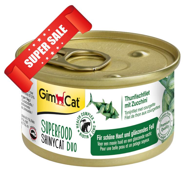 Влажный корм для котов GimCat Superfood ShinyCat Duo с тунцом и цукини 70 г