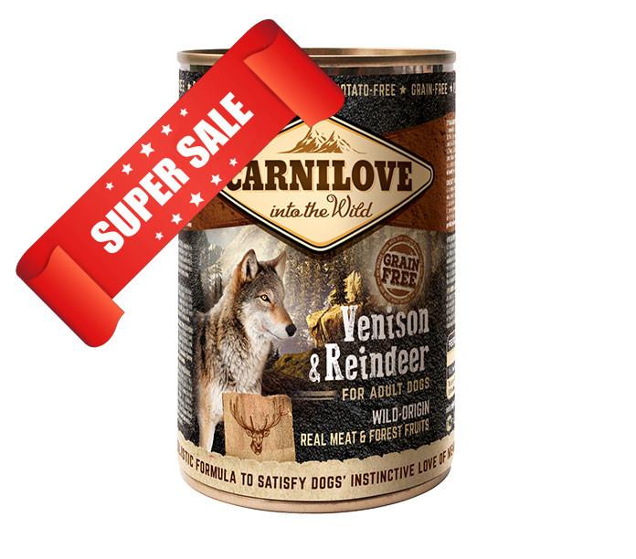 Влажный корм для собак Carnilove Venison & Reindeer 400 г