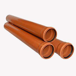 Труба EVCI PLASTIK для наружной канализации с раструбом 250 x 1000 см Оранжевый (200407)
