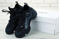 Женские кроссовки в стиле Christian Dior D-connect Black (Реплика ААА+)